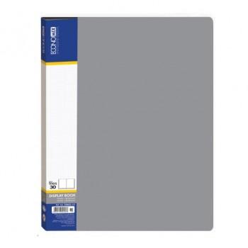Папка пластиковая с 30 файлами Economix, серая