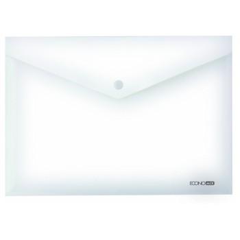 Папка-конверт А5 на кнопке Economix прозрачная E31316-00