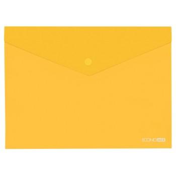 Папка-конверт А5 на кнопке Economix желтая E31316-05