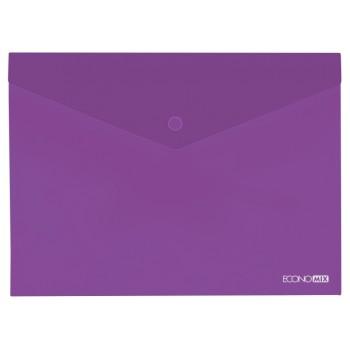 Папка-конверт А5 на кнопке Economix фиолетовая E31316-12