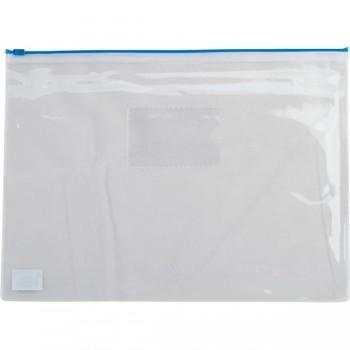Папка-конверт на застежке Buromax А4 синяя
