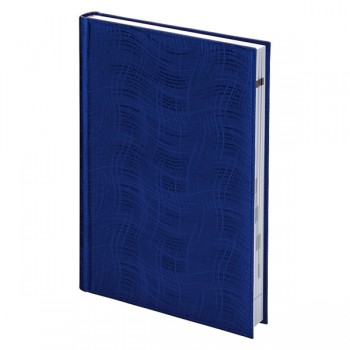 Ежедневник недатированный А5 Агенда Brunnen Wave, синий