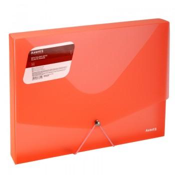 Папка-бокс пластиковая А4 30мм на резинках Axent красная 1502-24-A