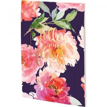 Блокнот планшет А5 Axent Flowers , 50 листов, клетка 8441-09-A