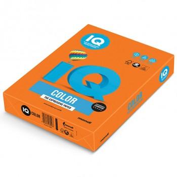 Бумага цветная А4 IQ Color OR43 оранжевый