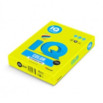 Бумага цветная А4 IQ Color Neon Neogb, (желтый неоновый)