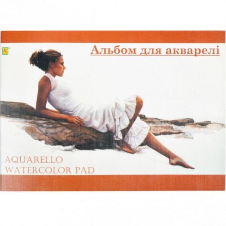 Альбом для акварели А4 10 л, 200 г/м ТМ Коленкор