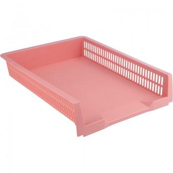 Лоток горизонтальный Axent Pastelini розовый 4040-10-A