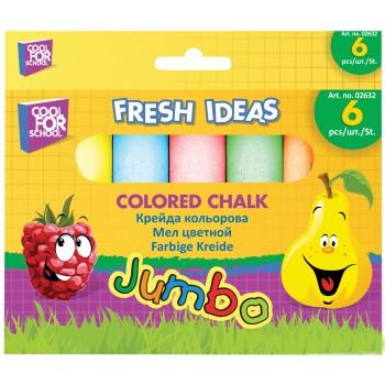 Мел большой Jumbo CFS 6 цветов