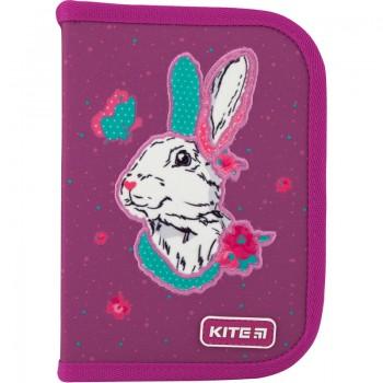 Пенал школьный твердый Kite Bunny 1 отд. 2 отеорота K20-622-5