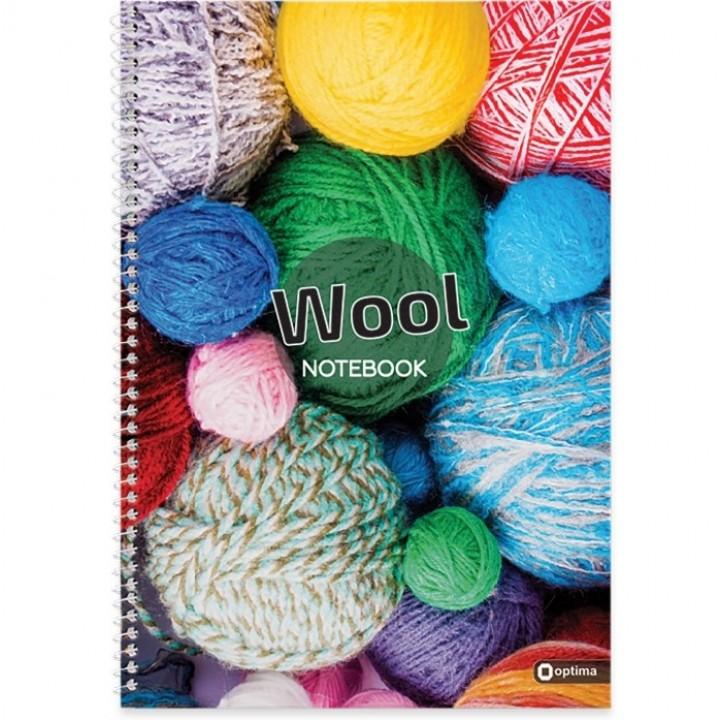 Тетрадь А4 Wool на спирали 80 л, клетка O20330-05