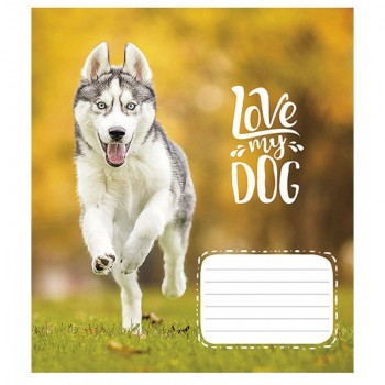 Тетрадь 12л линия Школярик My Dog 2795