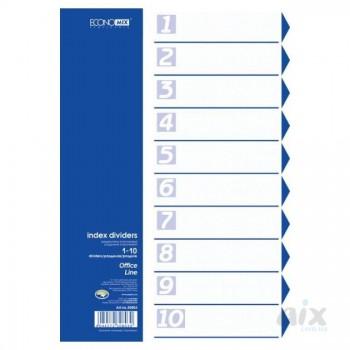 Разделитель страниц 10 л, пластик Economix