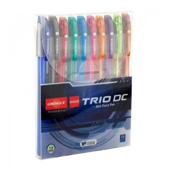 Набор масляных ручек Unimax 10 цветов Trio DC-3 UX108-20